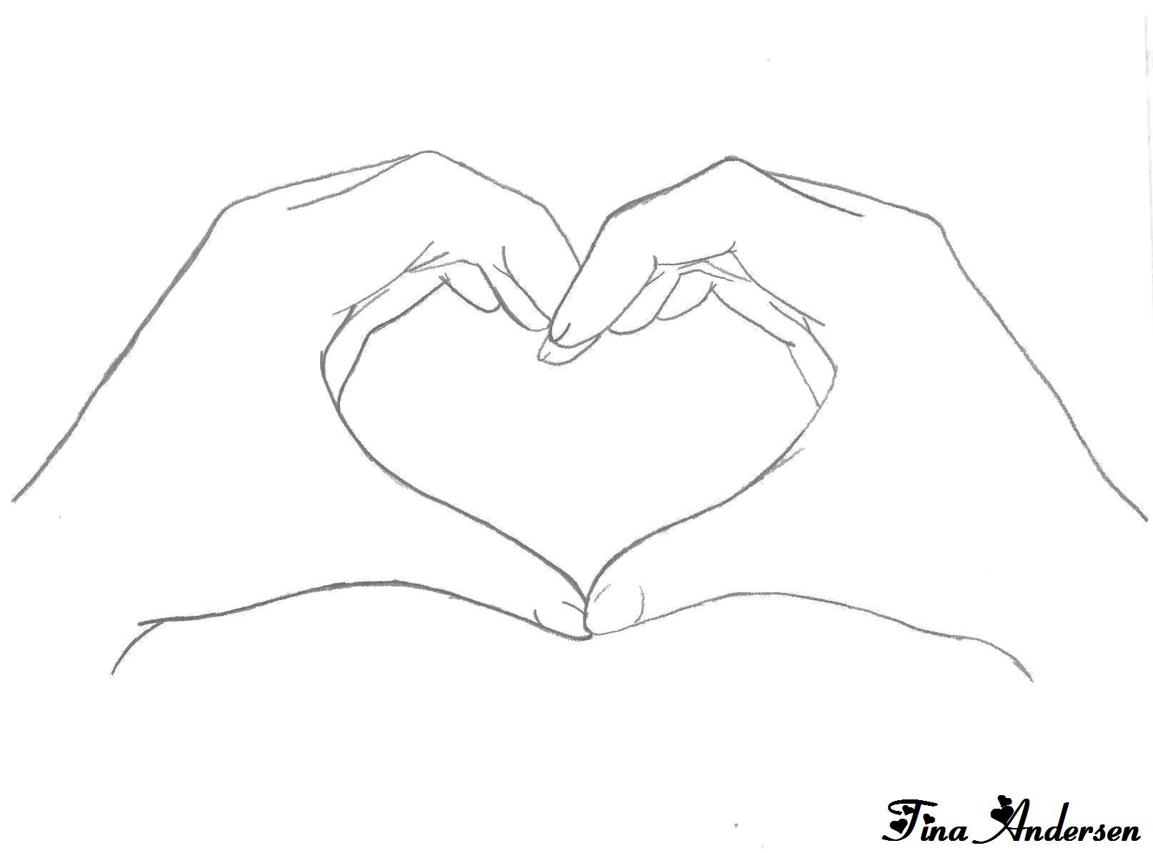 Line Drawing Heart Shape : Heart hands by tinboo on deviantart