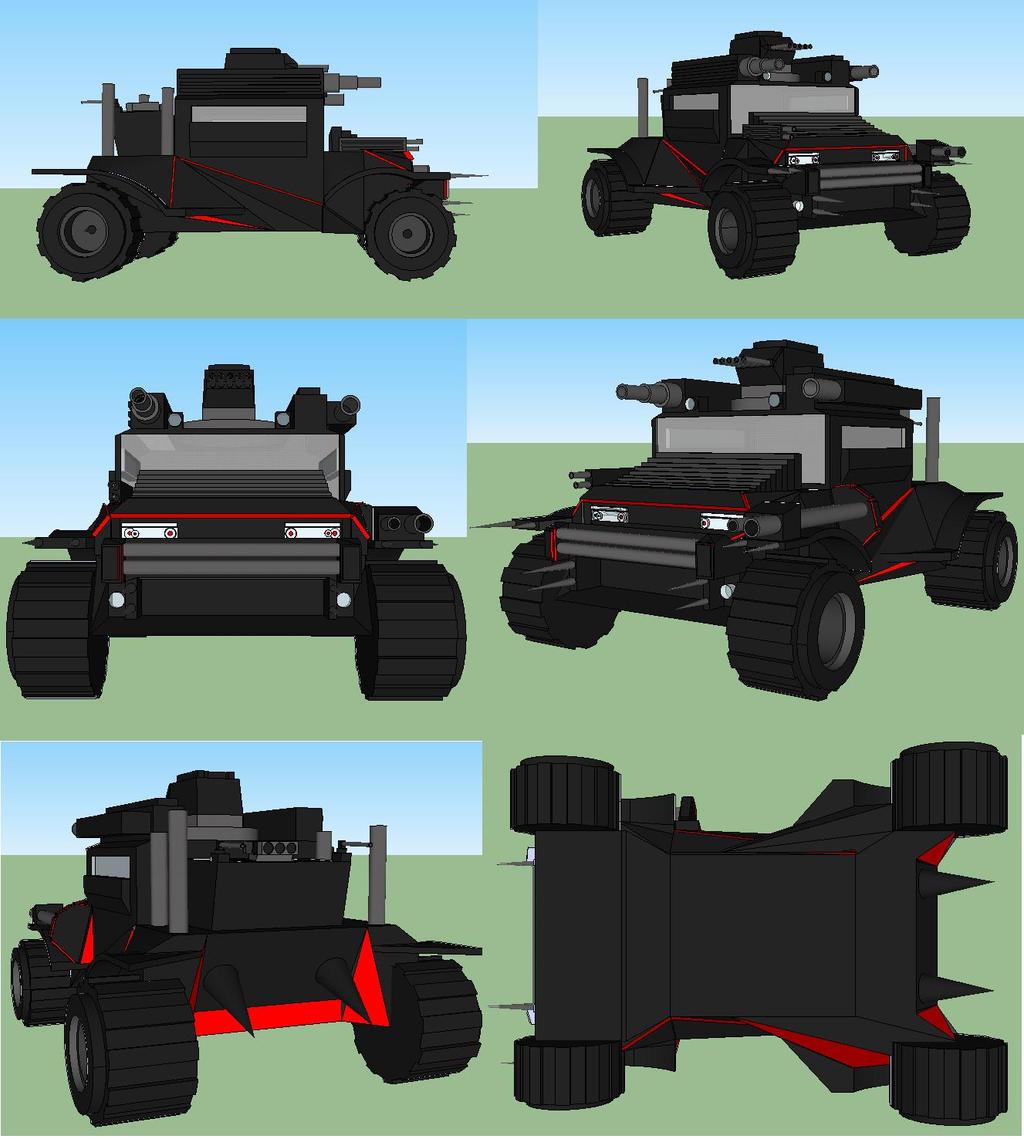 zombie mobile google sketchup 8 by soulreaper919 on. Black Bedroom Furniture Sets. Home Design Ideas