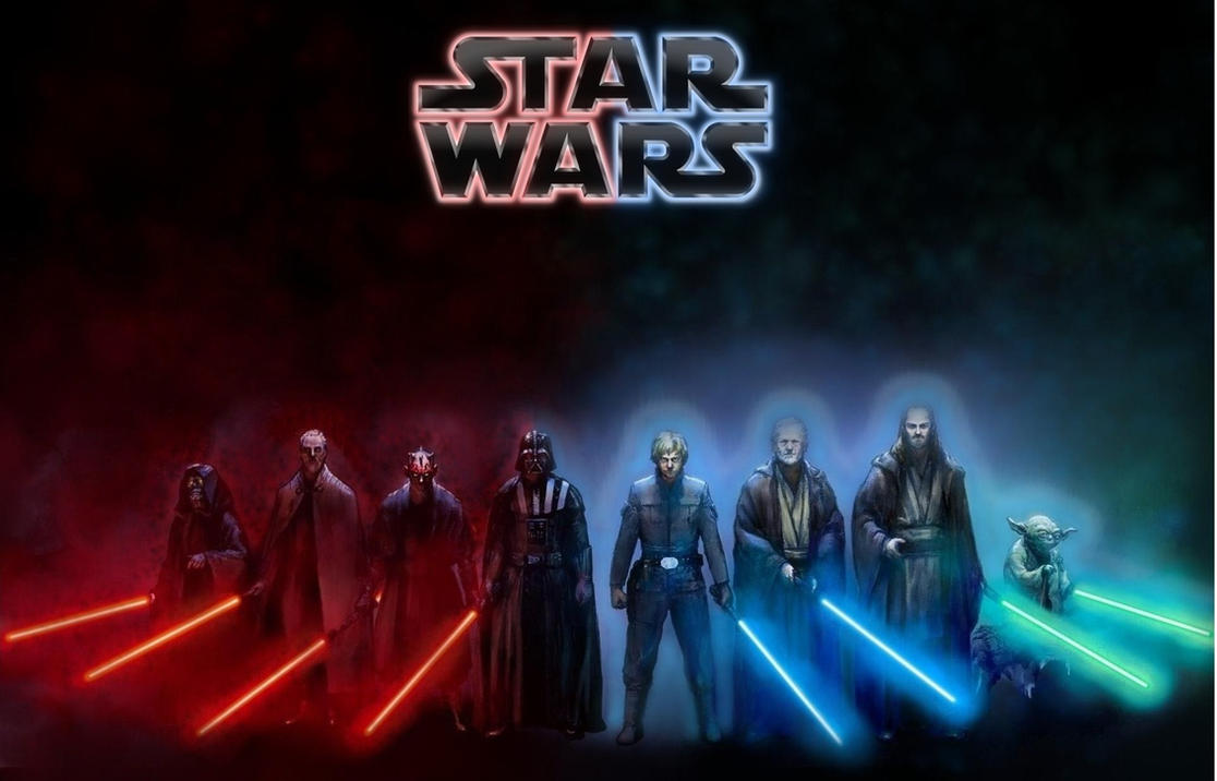 star wars dark side light side wallpaper by
