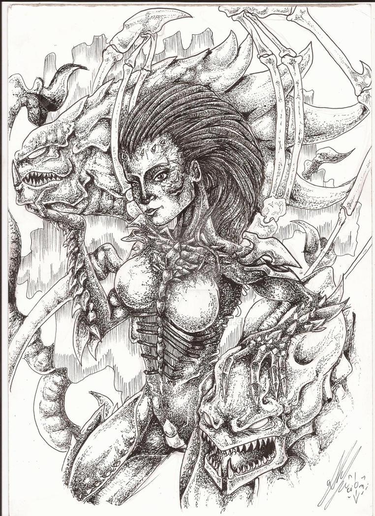 Star Craft  - Queen Of Blades by Zumilian