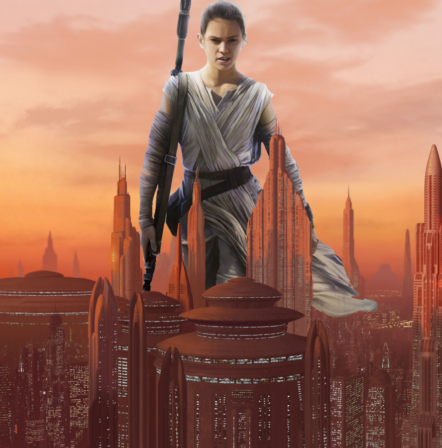 Rey Giantess: Coruscant Visit by CMWaters