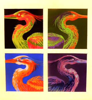 Color Study (Herons)