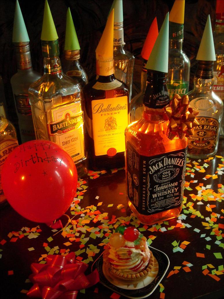 С днем рождения открытка с алкоголем 93