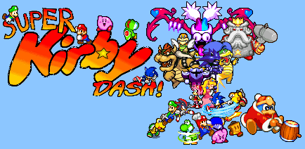 Everyone in Super Kirby Dash by Legend-tony980