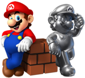 Mario and Metal Mario by Legend-tony980