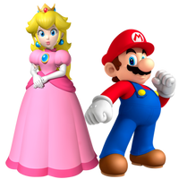Mario and Peach by Legend-tony980