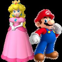 Mario and Peach by Legend-tony980