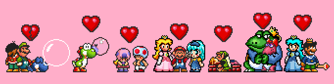 Super Mario: Valentine's Day on Sea Side by Legend-tony980