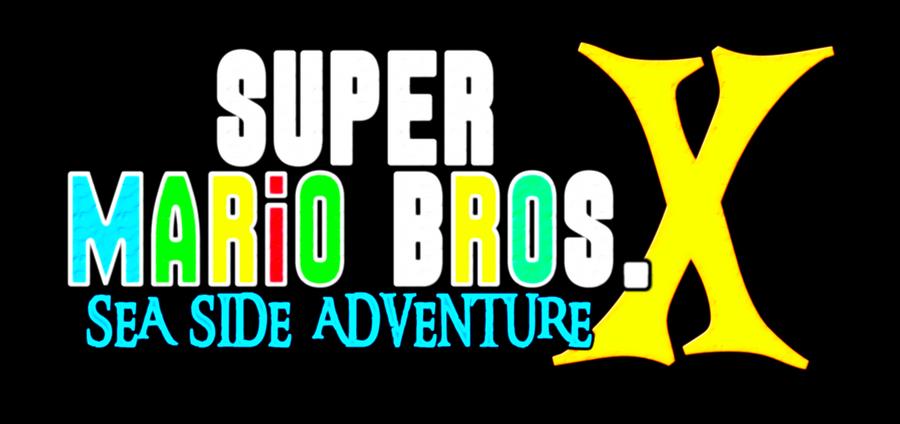 Super Mario Bros X Logo: Newer Super Mario Land x (happy New