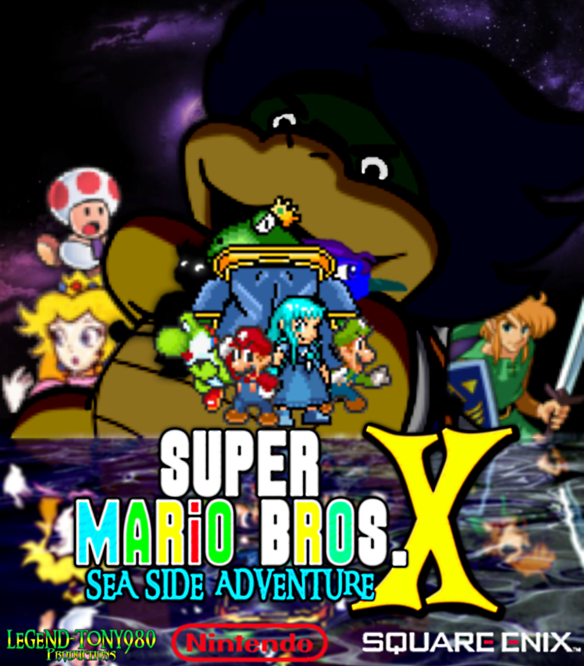 Super Mario Bros. X: Sea Side Adventure Poster by Legend-tony980