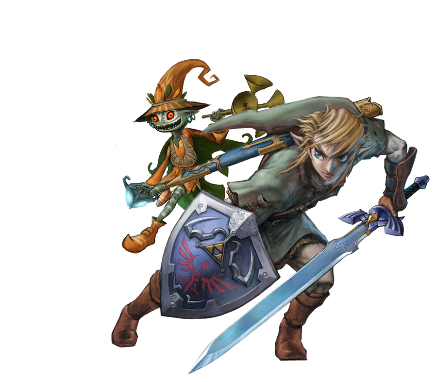 Link and Skull Kid by Legend-tony980