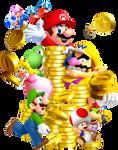 New Super Mario Bros.: Collecting Coins!
