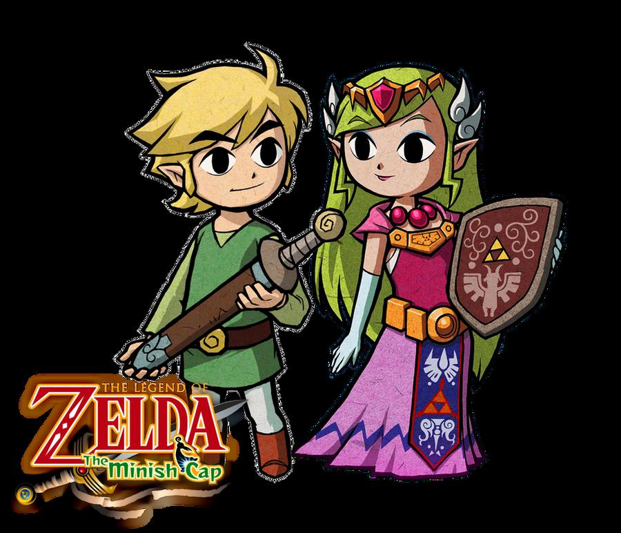 The Legend of Zelda: The Minish Cap Link and Zelda by Legend-tony980