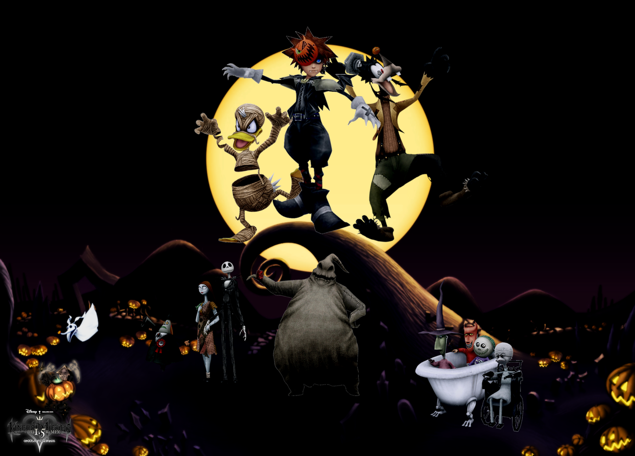 Great Wallpaper Halloween Mickey Mouse - kingdom_hearts___happy_halloween__by_legend_tony980-d5jmhuh  Graphic_701330.png