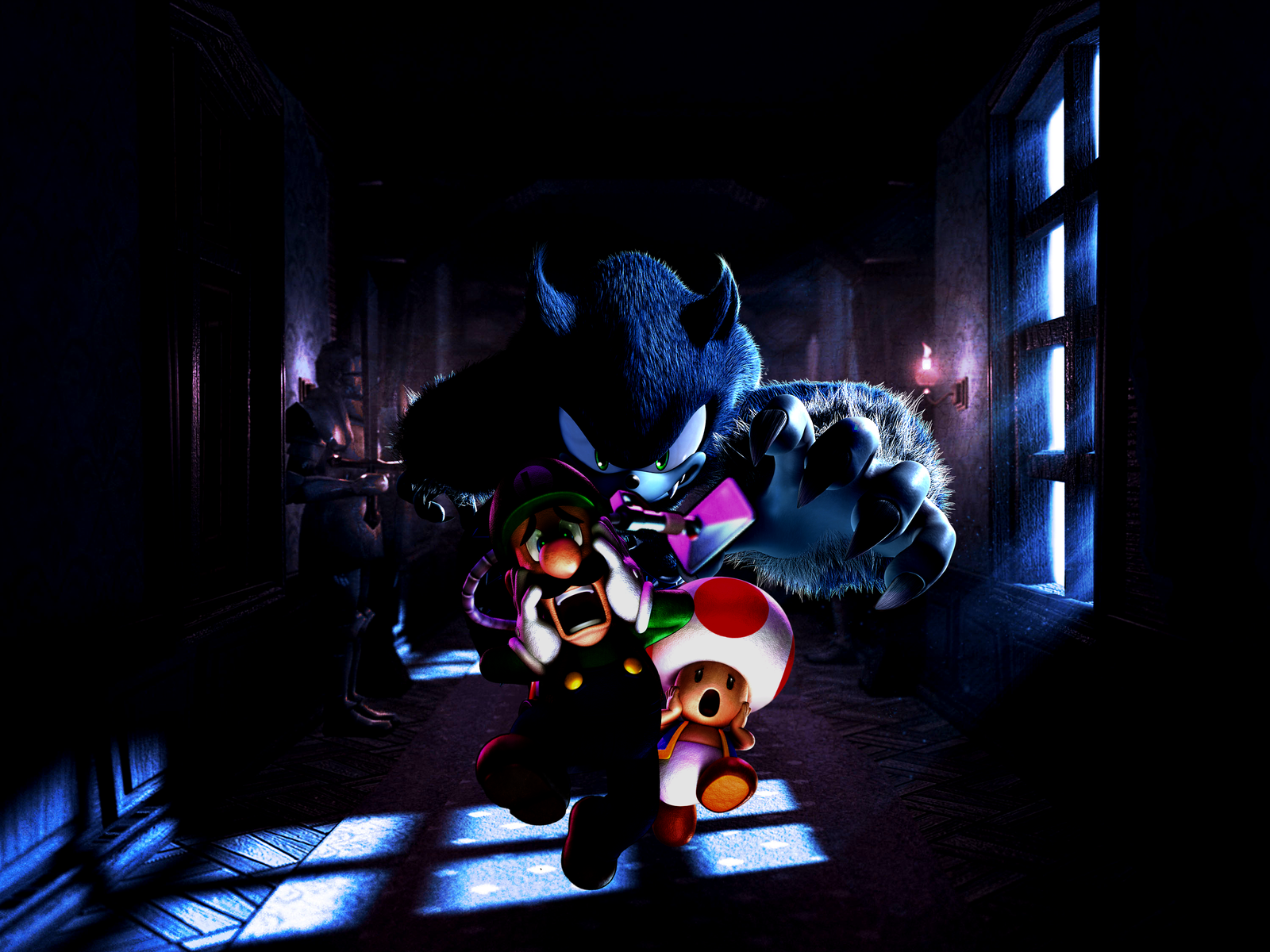 Luigis Mansion A Werehog In The Gloomy Manor By Legend Tony980