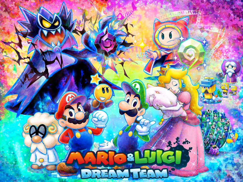 Mario and Luigi Dream Team The Year of Luigi by Legendtony980 on
