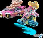 Mario Kart 8 - Princess Peach and Pink Gold Peach
