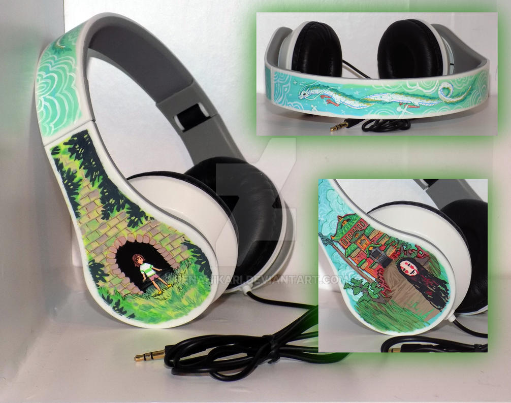 Spirited Away - Custom Headphones by RenaHikari