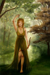 Artemis, the Huntress by Aliciane