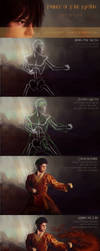GIMP Process: Prince of Fire Nation - Step by Step by Aliciane