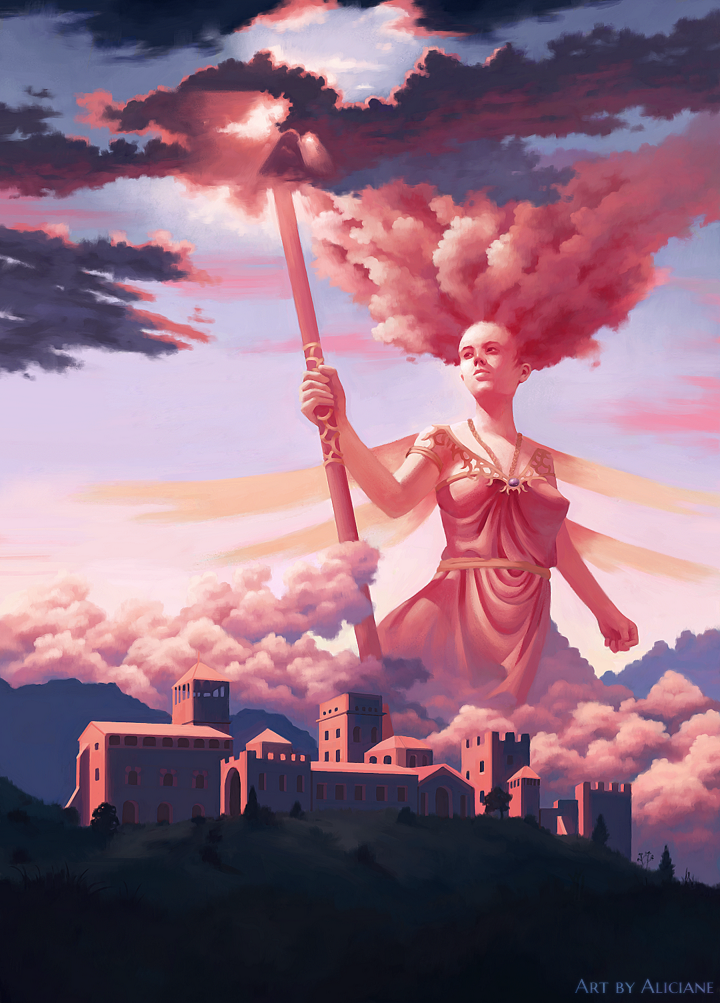 Nephelee, Nymph of Nebula by Aliciane