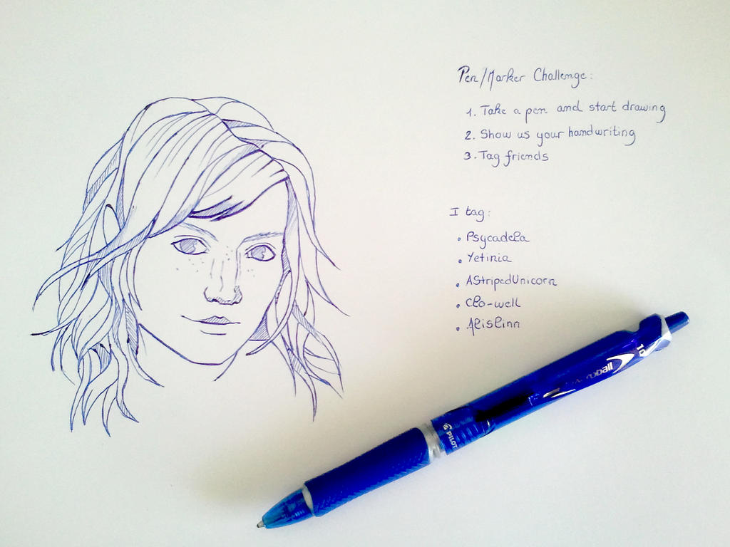 Pen or Marker Challenge by Aliciane
