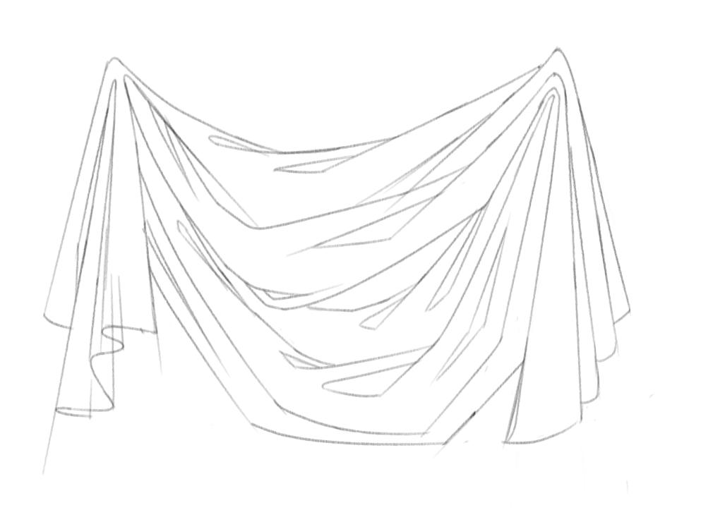 Diaper Fold - Sketch by Aliciane