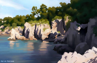 Cap d'Antibes - Landscape Study by Aliciane