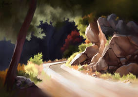 Hiking trail - Landscape study
