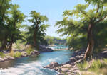 Pedernales River - Landscape study