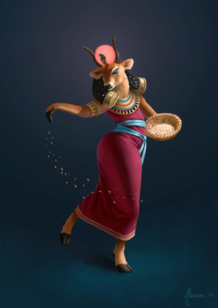 Character Design Challenge Deviantart : Hathor character design challenge by aliciane on deviantart