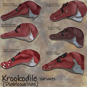 Krookodile Variants