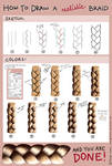 How to draw a realistic braid - tutorial (SAI)