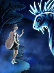 Princess Mononoke and the Night Walker by maaya-art