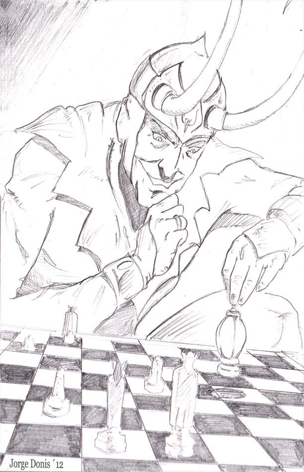 Mischievous Loki by jorgedonis