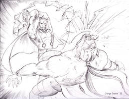Thor vs. Ork! (pt 1.) by jorgedonis