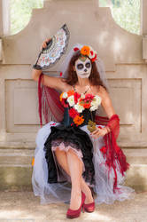 Sugarskull bride cosplay by Solipsis79