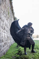 Jon Snow at Lucca's wall by Solipsis79