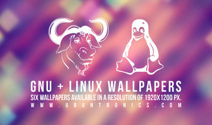 Six wallpapers of GNU 'n' Linux