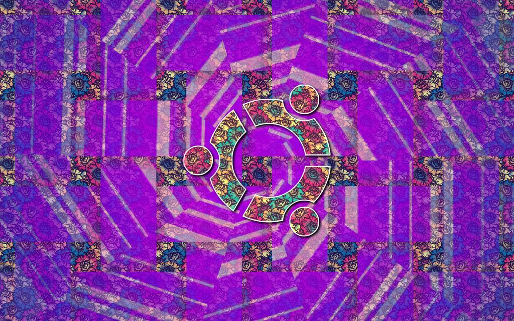 Ubuntu Flowers Wallpaper by mylittledemons
