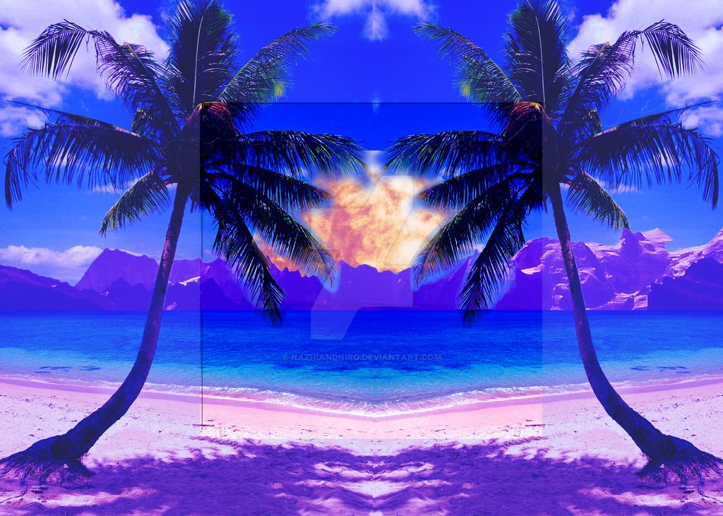 Chill sunset (Vaporwave) by NazhiandNiro on DeviantArt