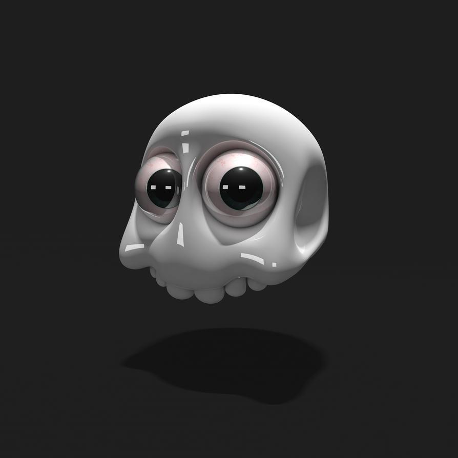 Scared Skull by Kubah