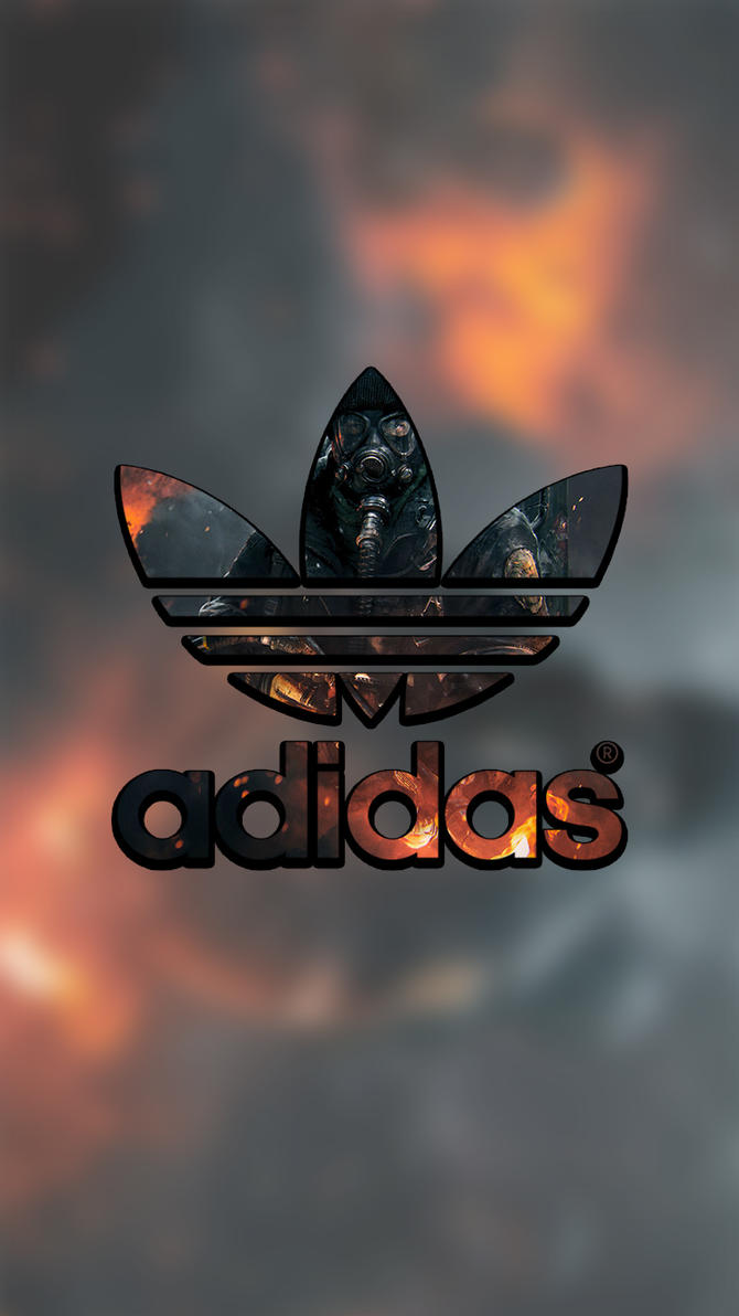 adidas lock screen logo wallpaper for iphone by