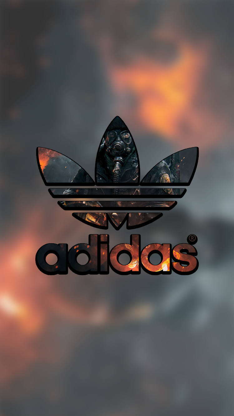 Ártico Alegrarse Incomparable  Adidas Lock Screen Logo Wallpaper For Iphone by lukejacobs02 on ...