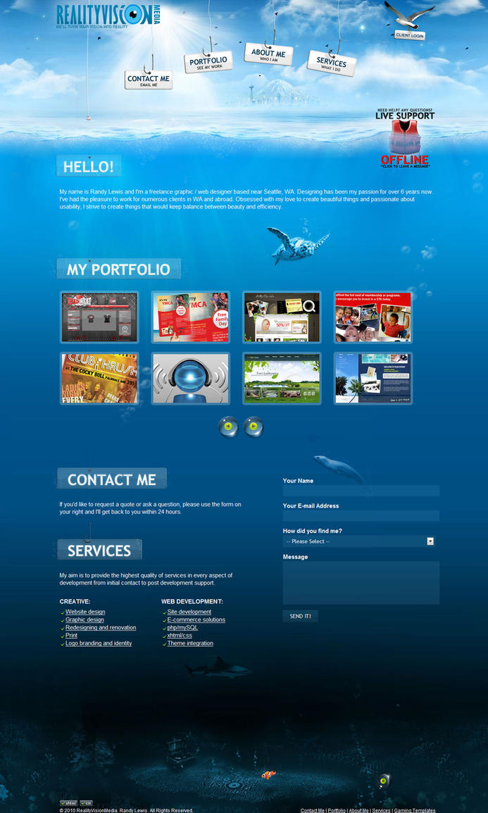 rvmedia v2 Portfolio Water by dRoop