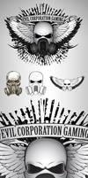 Skull Wings Gas Mask Logo