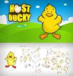 Cartoon Duck Vector Drawing