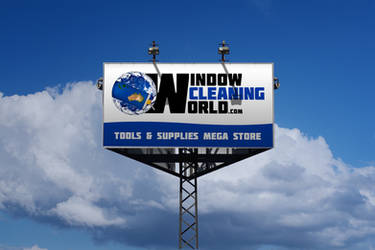 Window Cleaning World Logo by dRoop