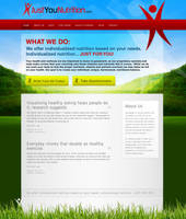 JustYouNutrition - Nutrition Webdesign by dRoop
