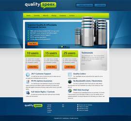 TeamSpeak - Web Hosting Design by dRoop
